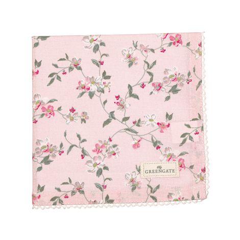GreenGate Stoffserviette mit Spitze Jolie Pale Pink