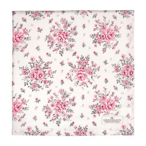 GreenGate Tischdecke Flora White 140x140