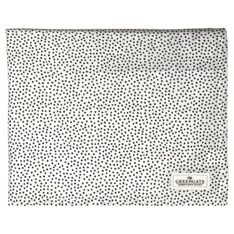 GreenGate Tischdecke Dot Black 145x250