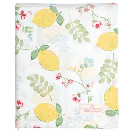 GreenGate Tischdecke Limona White 145x250