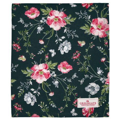 GreenGate Tischdecke Meadow Black 145x250