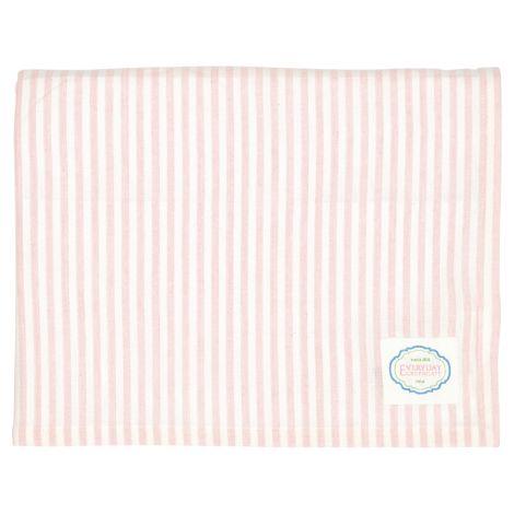 GreenGate Tischdecke Alice Stripe Pale Pink 145x250