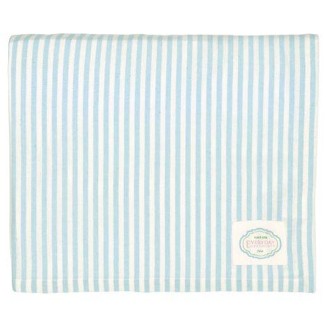 GreenGate Tischdecke Alice Stripe Pale Blue 145x250