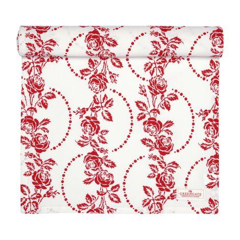 GreenGate Tischläufer Fleur Red 45x140 •