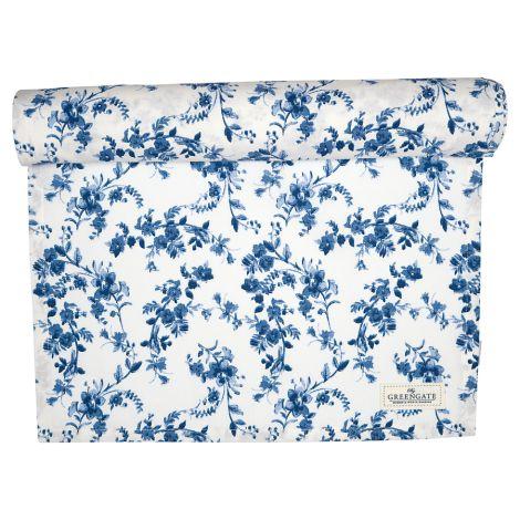 GreenGate Tischläufer Vanessa Blue 45x140