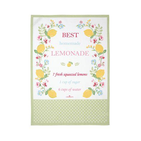 GreenGate Geschirrtuch Limona White mit Print