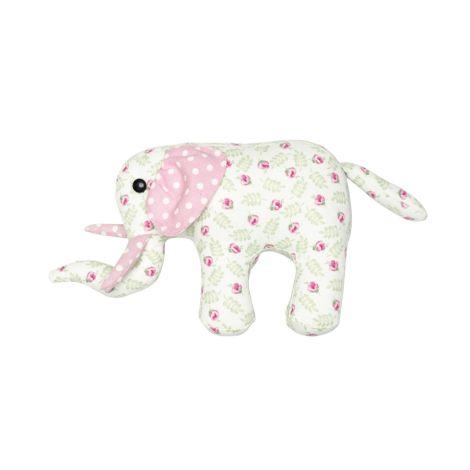GreenGate Kuscheltier Elephant Lily Petit White Small