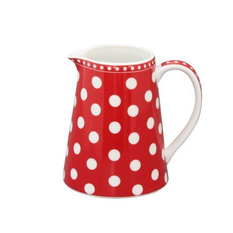 Krasilnikoff Milchkännchen Dots Red