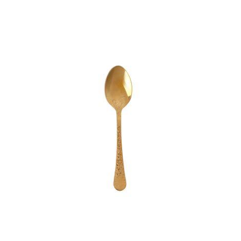 Rice Kleiner Löffel mit Gravur Flower Gold