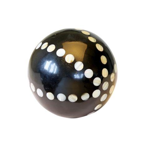 GreenGate Dekokugel White Dots/Black Groß