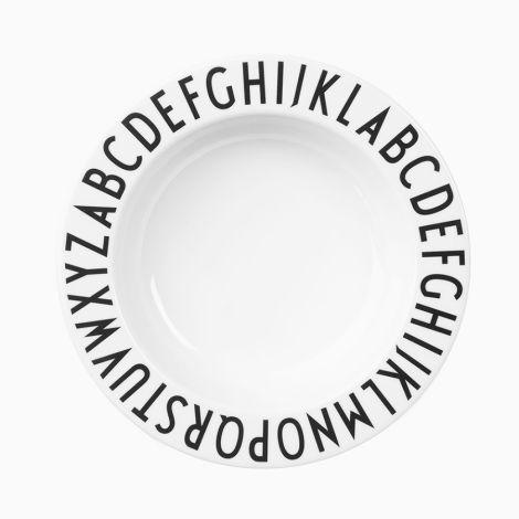 """Design Letters Melamin Schale """"AJ Vintage ABC"""" White"""
