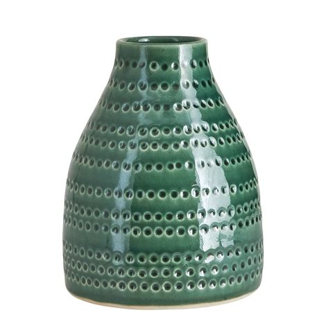 House Doctor Vase Circles Emerald Green