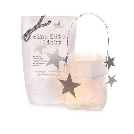 Raumgestalt Eine Tüte Licht - Silberne Sterne