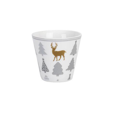 Krasilnikoff Espresso Tasse Christmas Trees With Deer