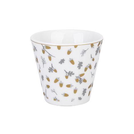 Krasilnikoff Espresso Tasse Golden Acorns