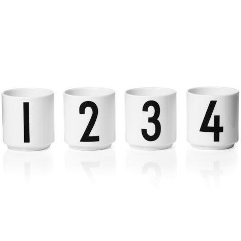 Design Letters Porzellan Espresso-Becher White 4er-Set