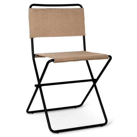 ferm LIVING Stuhl Desert Dining Chair Black/Sand