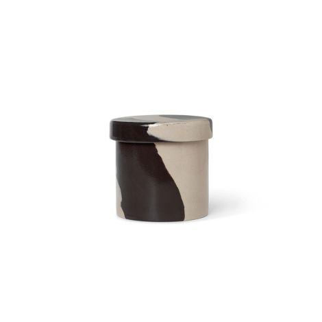 ferm LIVING Aufbewahrungsdose Inlay Container Small Sand/Black
