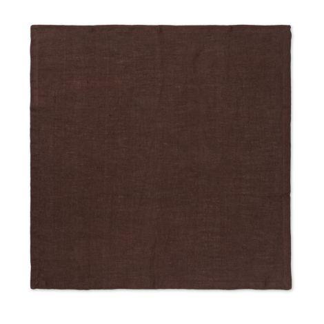 ferm LIVING Stoffserviette Linen Chocolate 2er-Set