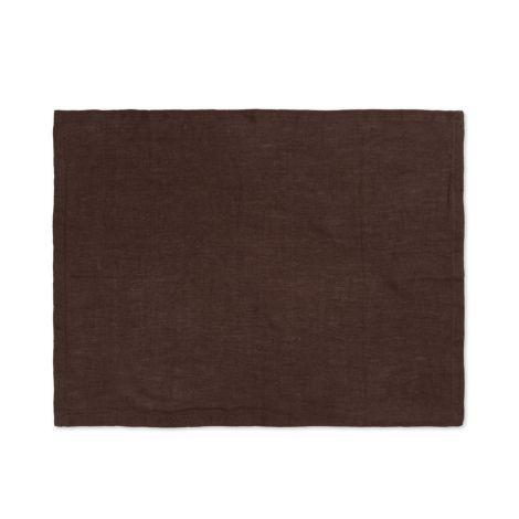 ferm LIVING Platzset Linen Chocolate 2er-Set