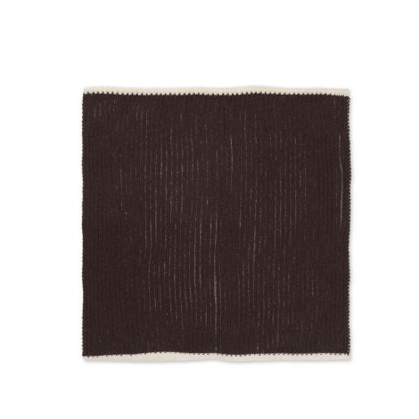 ferm LIVING Tuch Twofold Chocolate/Off-White 2er-Set
