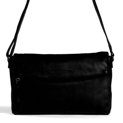 Sticks and Stones Ledertasche Flamengo Black Washed •