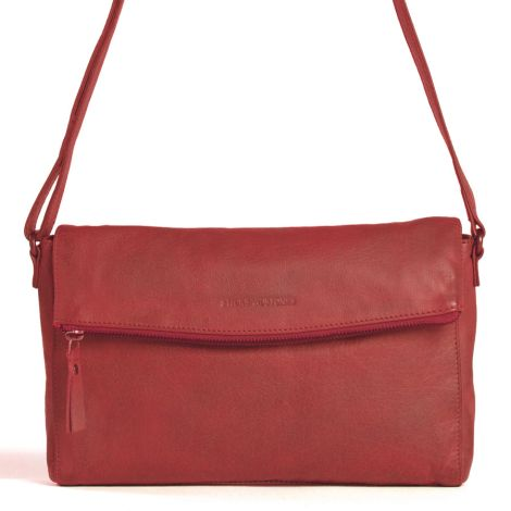 Sticks and Stones Ledertasche Flamengo Cherry Red Washed •