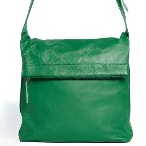 Sticks and Stones Ledertasche Flap Bag Cactus Green Washed •