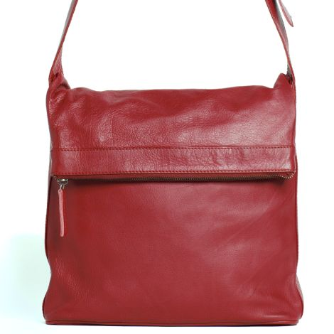 Sticks and Stones Ledertasche Flap Bag Cherry Red Washed