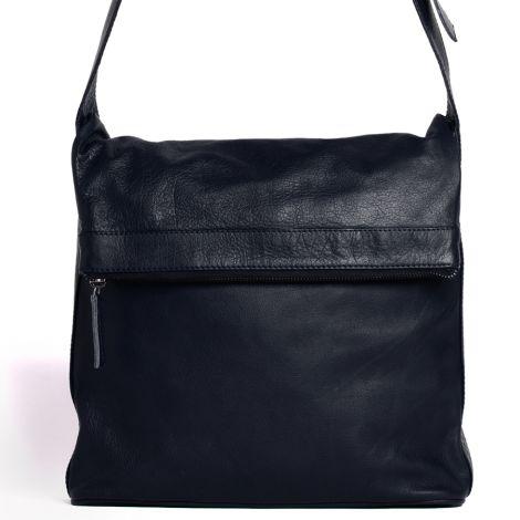 Sticks and Stones Ledertasche Flap Bag Dark Blue Washed