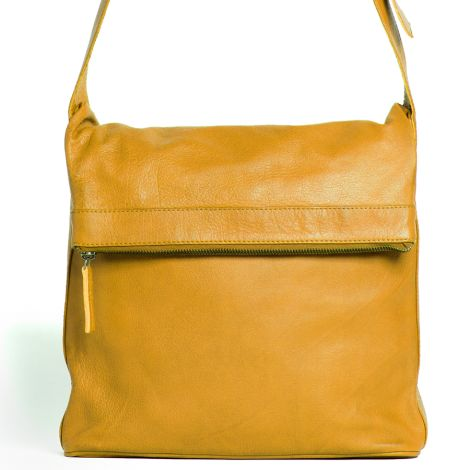 Sticks and Stones Ledertasche Flap Bag Honey Yellow Washed