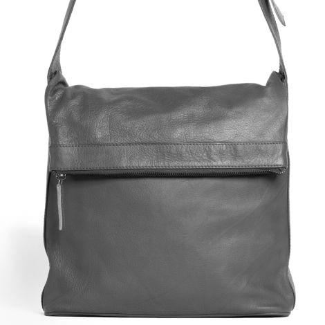 Sticks and Stones Ledertasche Flap Bag Light Grey Washed