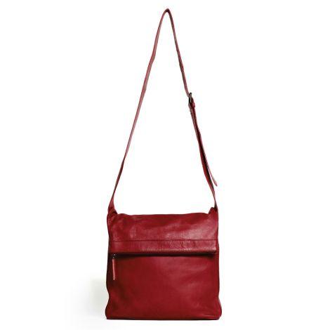 Sticks and Stones Ledertasche Flap Bag Red Washed