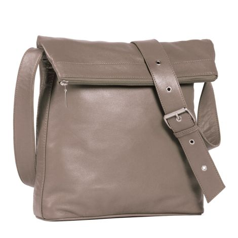 Sticks and Stones Ledertasche Flap Bag Light Taupe