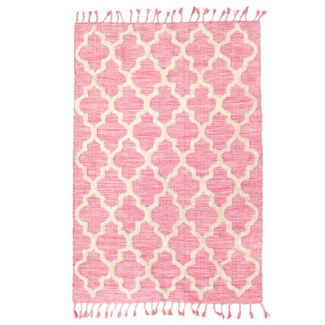 Rice Teppich Baumwolle Pink 180 x 120 cm