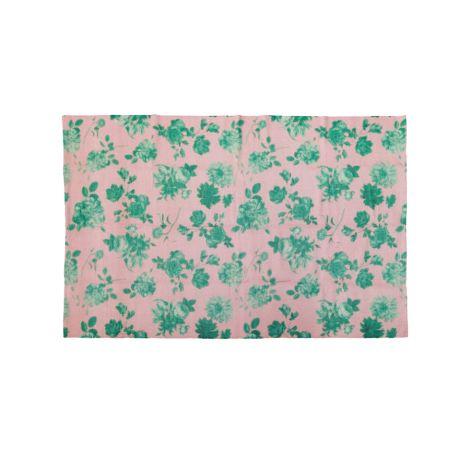Rice Teppich Pink Green Rose handgemacht 90 x 150 cm