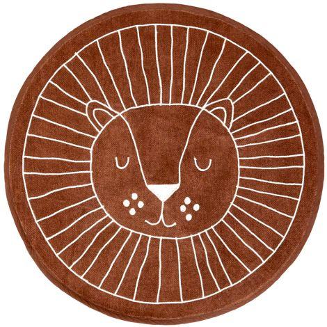 Rice Teppich rund Lion Face 90 cm