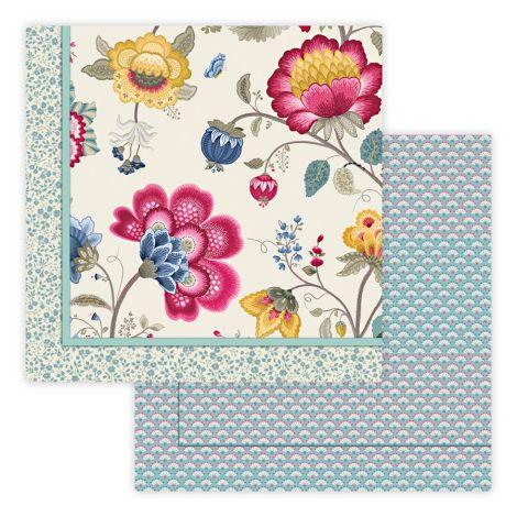 PIP Studio Tagesdecke Quilt Floral Fantasy Ecru