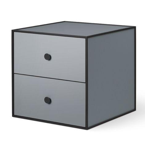 by Lassen Box inkl. 2 Schubladen Frame 35 Dark Grey