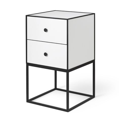 by Lassen Sideboard Frame 35 White inkl. 2 Schubladen