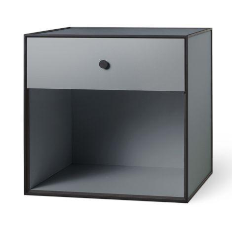by Lassen Box inkl. 1 Schublade Frame 49 Dark Grey