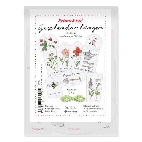 krima & isa Geschenkanhänger-Set Gartenliebelei