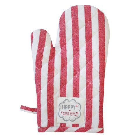 Krasilnikoff Ofenhandschuh Red Big Stripes