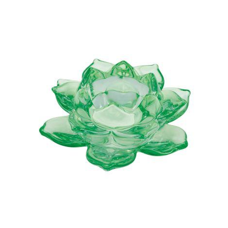 GreenGate Kerzenhalter Flower Medium Green •