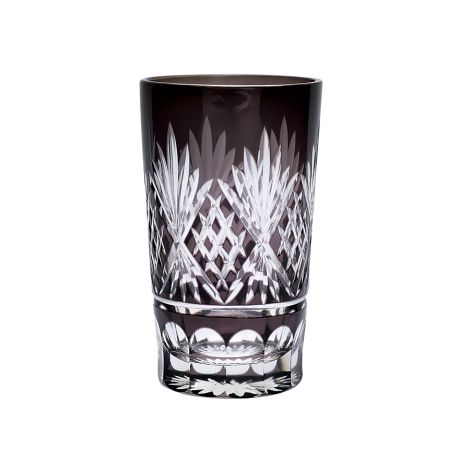 Gate Noir by GreenGate Wasserglas Leaf Grey Crystal Large