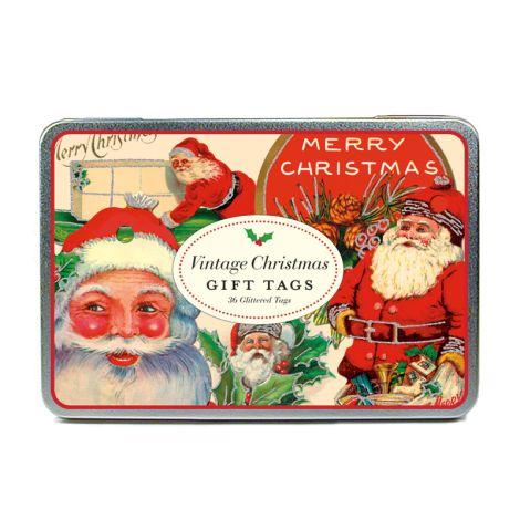 Cavallini Geschenkanhänger Vintage Holidays Glitter •