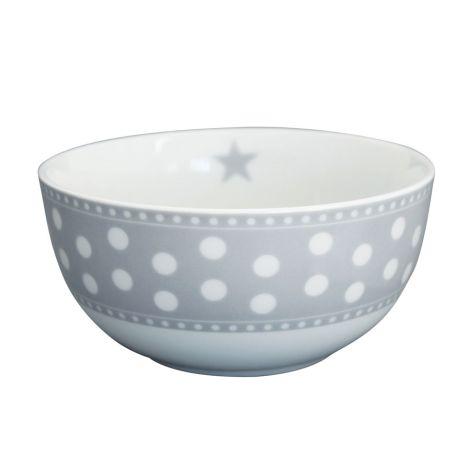 Krasilnikoff Schüssel Happy Bowl Dot Light Grey