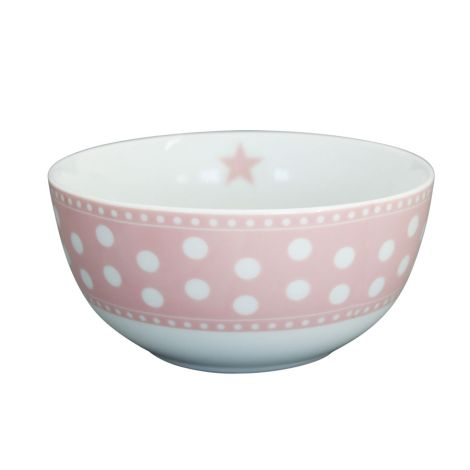 Krasilnikoff Schüssel Happy Bowl Dot Pink