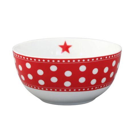 Krasilnikoff Schüssel Happy Bowl Dot Red