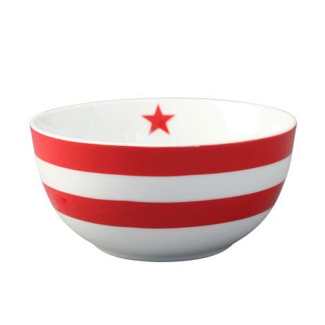 Krasilnikoff Schüssel Happy Bowl Stripes Red